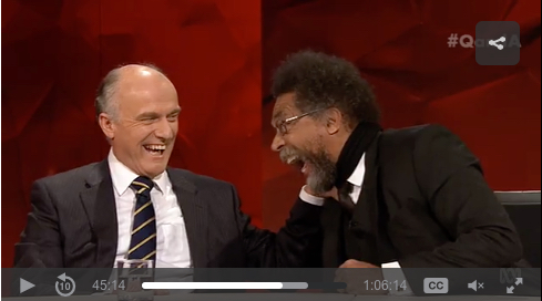 Eric Abetz, left, and Cornel West on Q&A