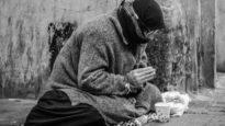 adult beggar begging
