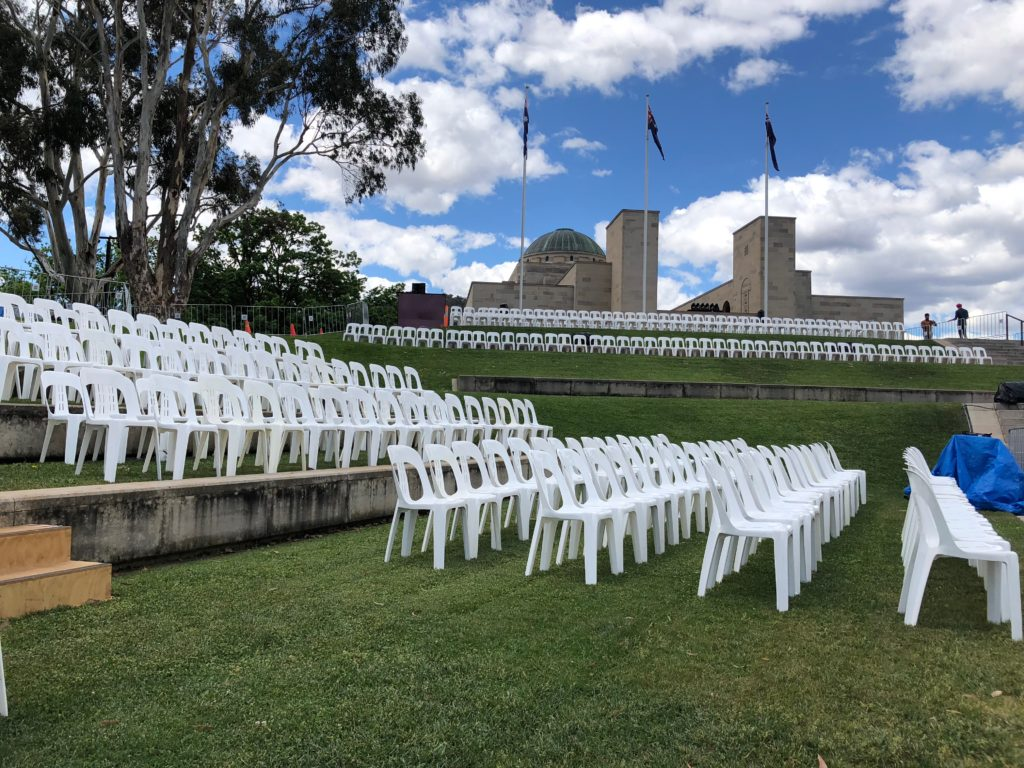 Anticipating the crowds for Remembrance Day.