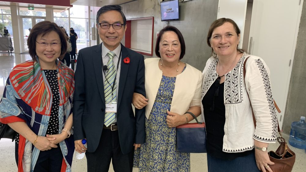 Wendy Yapp with Edna Walter and pastors Daniel and Judith Ho from kingdom Light church in Perth.