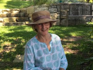 Susie Holman, President of Friends of the Bible Garden
