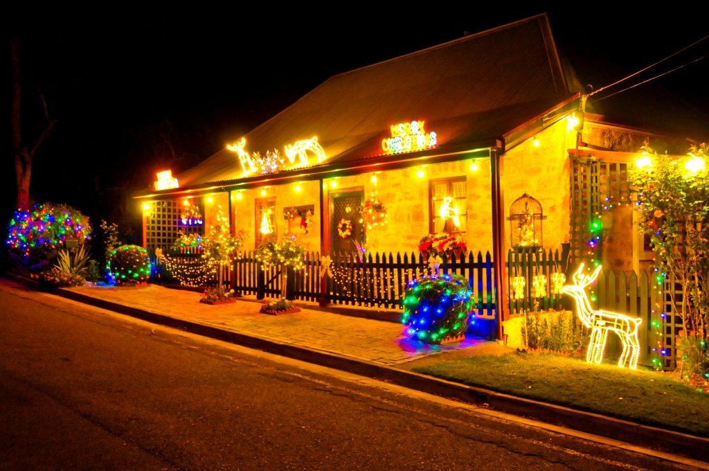 A taste of Lobethal's amazing Christmas light show.