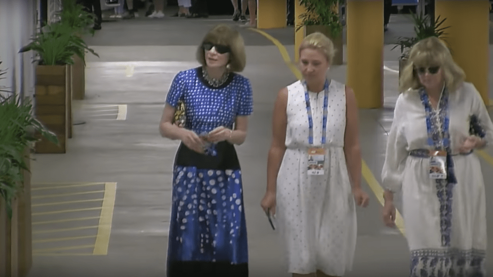 US Vogue editor-in-chief Anna Wintour arrives at the Australian Open in Melbourne.