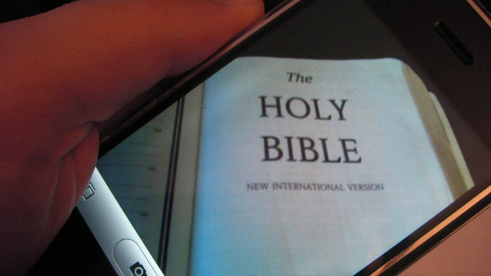 A Bible on digital device