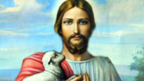Jesus with a lamb