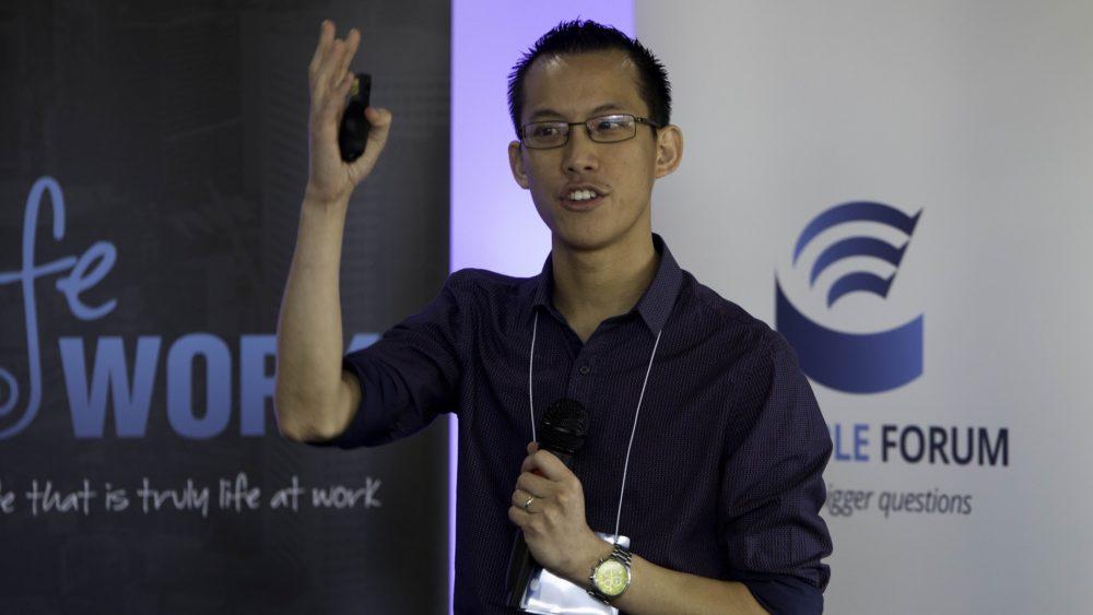 Eddie Woo speaks at the Life@Work workshop in Adelaide last weekend.