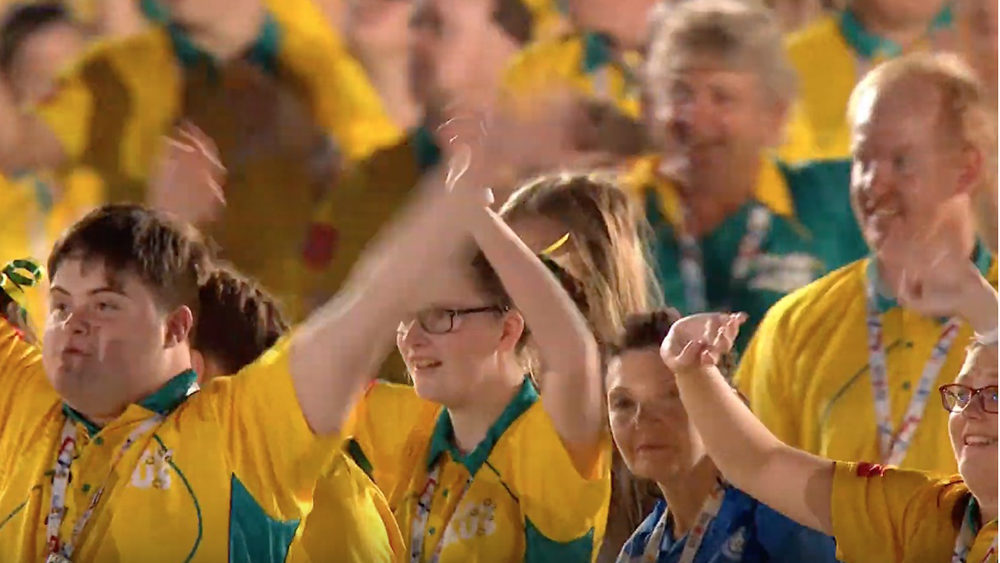 Team Australia enters the Opening Ceremony at the Special Olympics World Games
