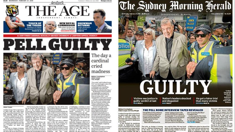 Guilty: Pell Headlines