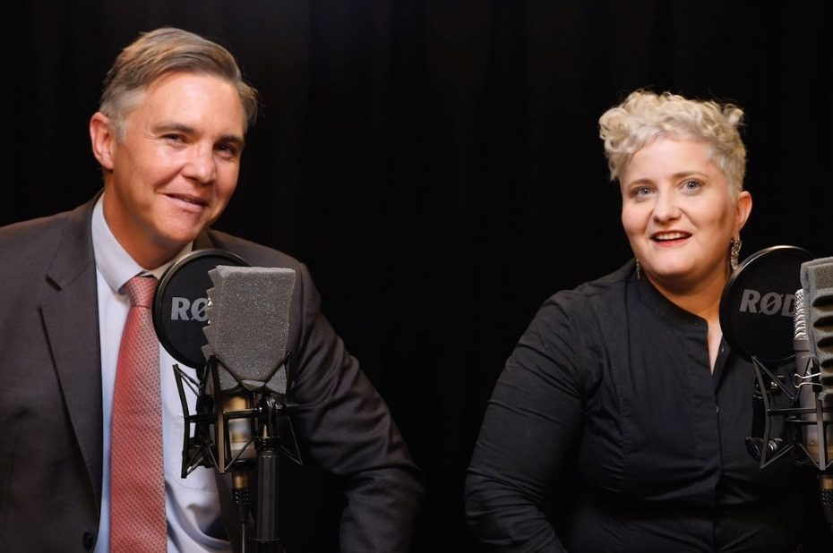 With All Due Respect Podcast hosts Michael Jensen and Megan Powell de Toit