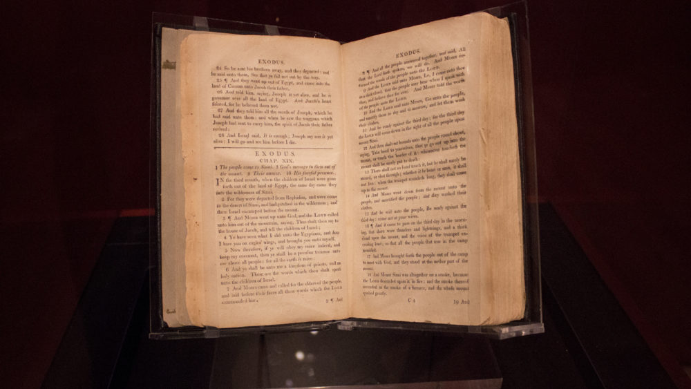 The Slave Bible exhibition at Museum of the Bible in Washington
