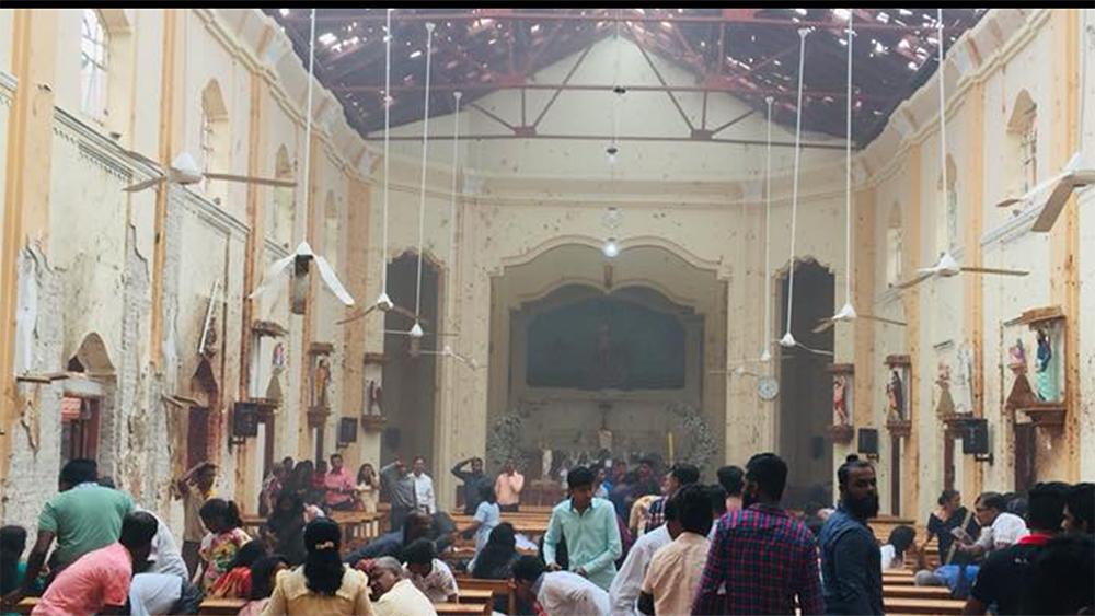 Devastated: St.Sebastian's Church,Katuwapitiya