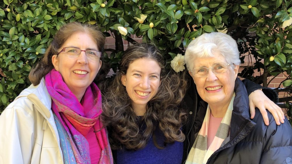 Cathy Petherbridge, Sarah Petherbridge and Jenny Hazell