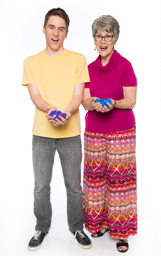 Matt and Lyn, contestants on Lego Masters.