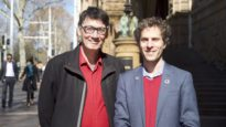 Eternity News Editor in Chief John Sandeman (left) and Aids Council of NSW President Justin Koonin (right). Sydney July 2019.