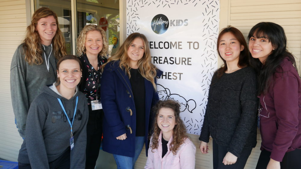 Some of Hillsong's Treasure Chest team