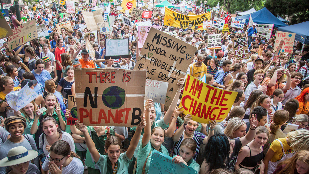 Students striking for climate change