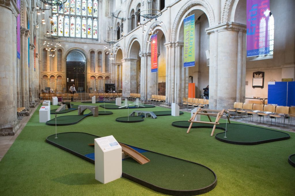 Rochester Cathedral's mini golf course