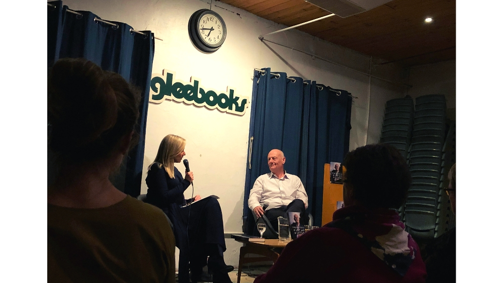 Tim Costello is interviewed by Melissa Doyle at his book launch in Sydney