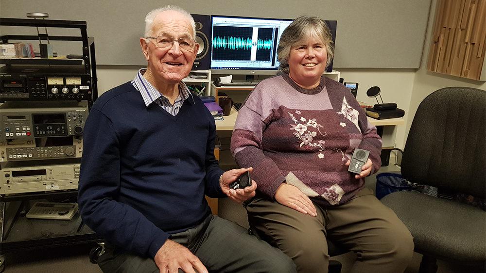 Tom Tresider from Megavoice and Christine Platt from GRN