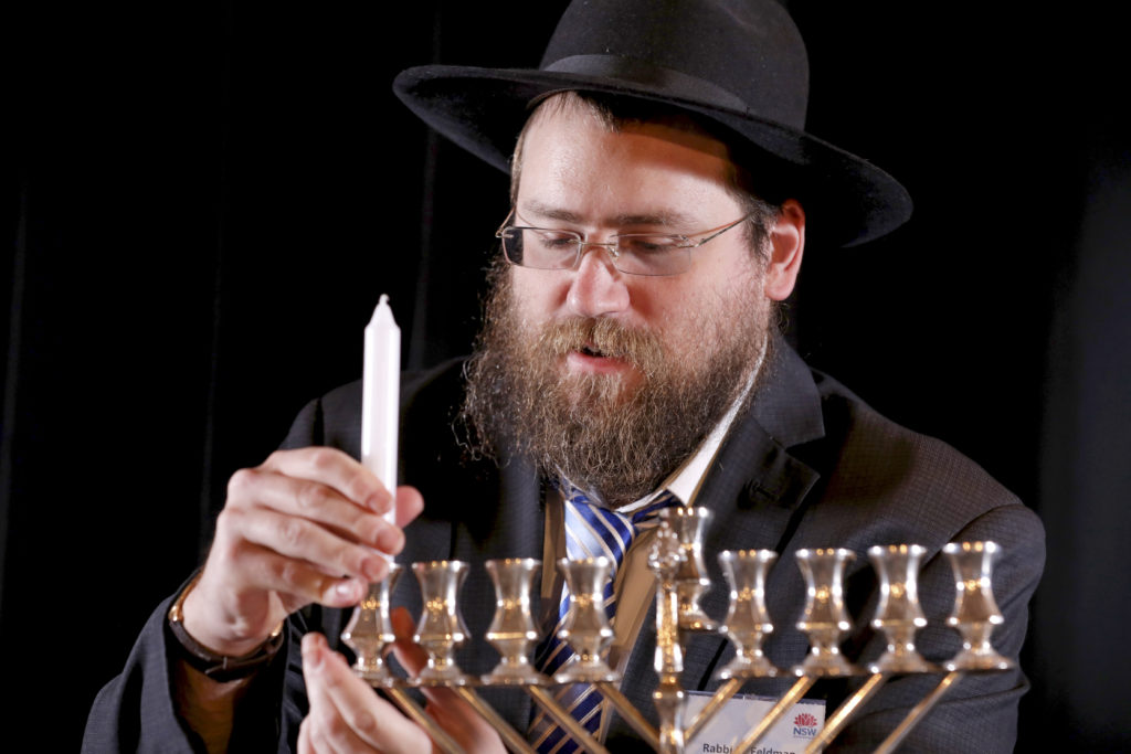 The Jewish community celebrate the start of Chanukah at State Parliament. Image: Salty Dingo 2019