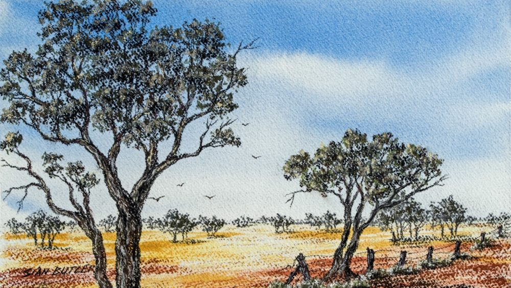 Outback Australia painting by Sian Butler, published by David Clode / Unsplash