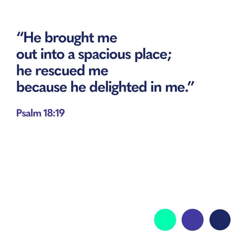 Bible verse Psalm 18:9