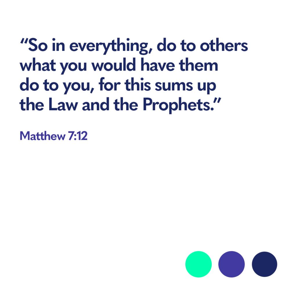 Bible verse Matthew 7:12