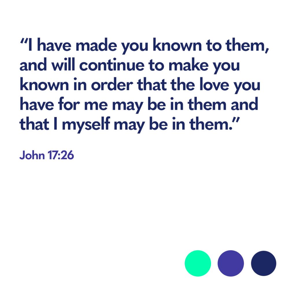 Bible verse John 17:26