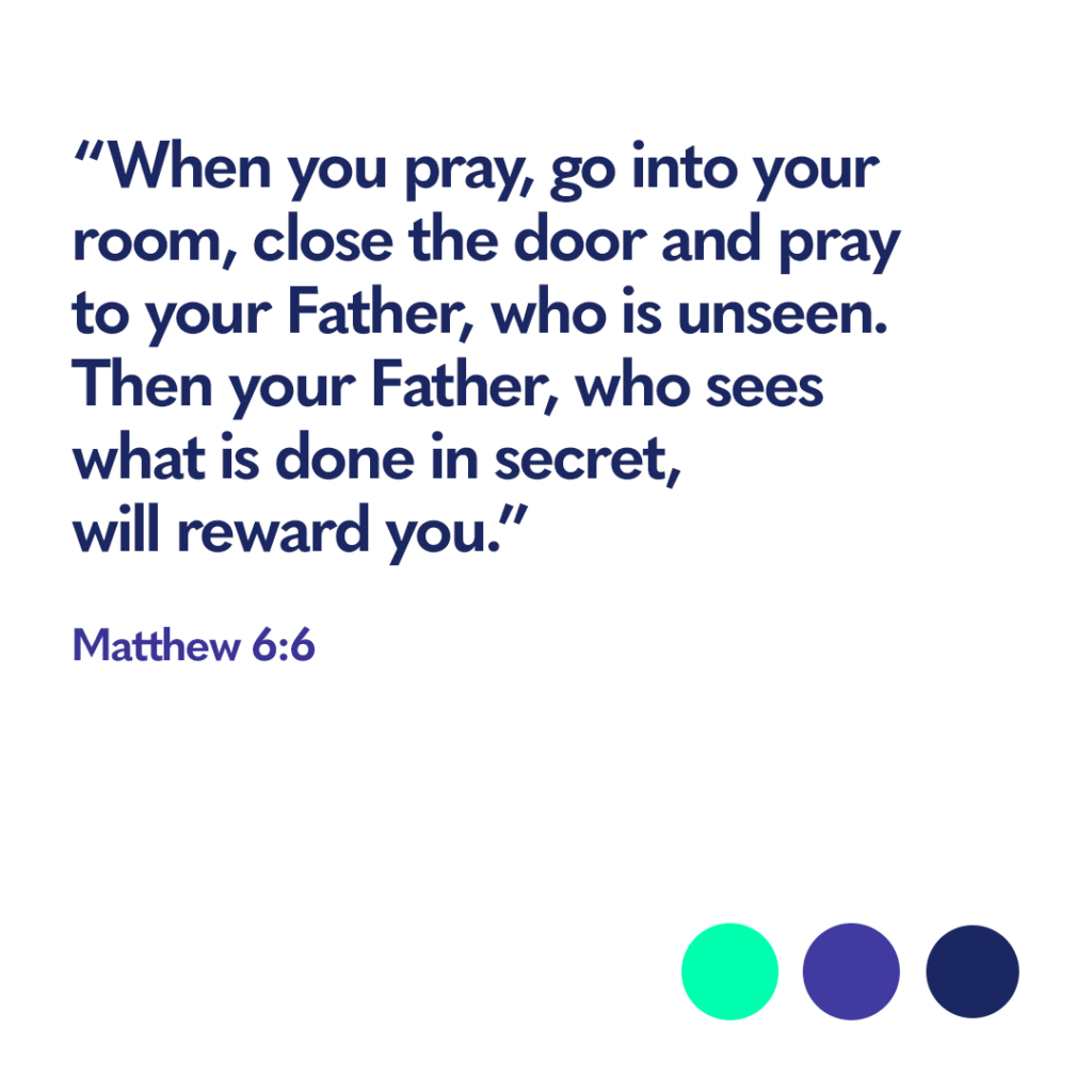 Bible verse Matthew 6:6