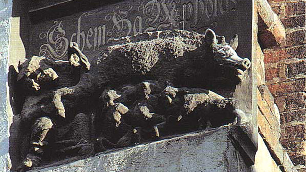 Judensau, the anti semitic sculpture on Luther's church