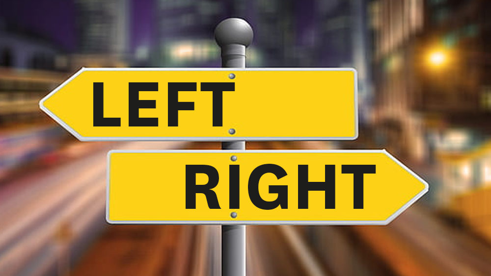 left and right signpost