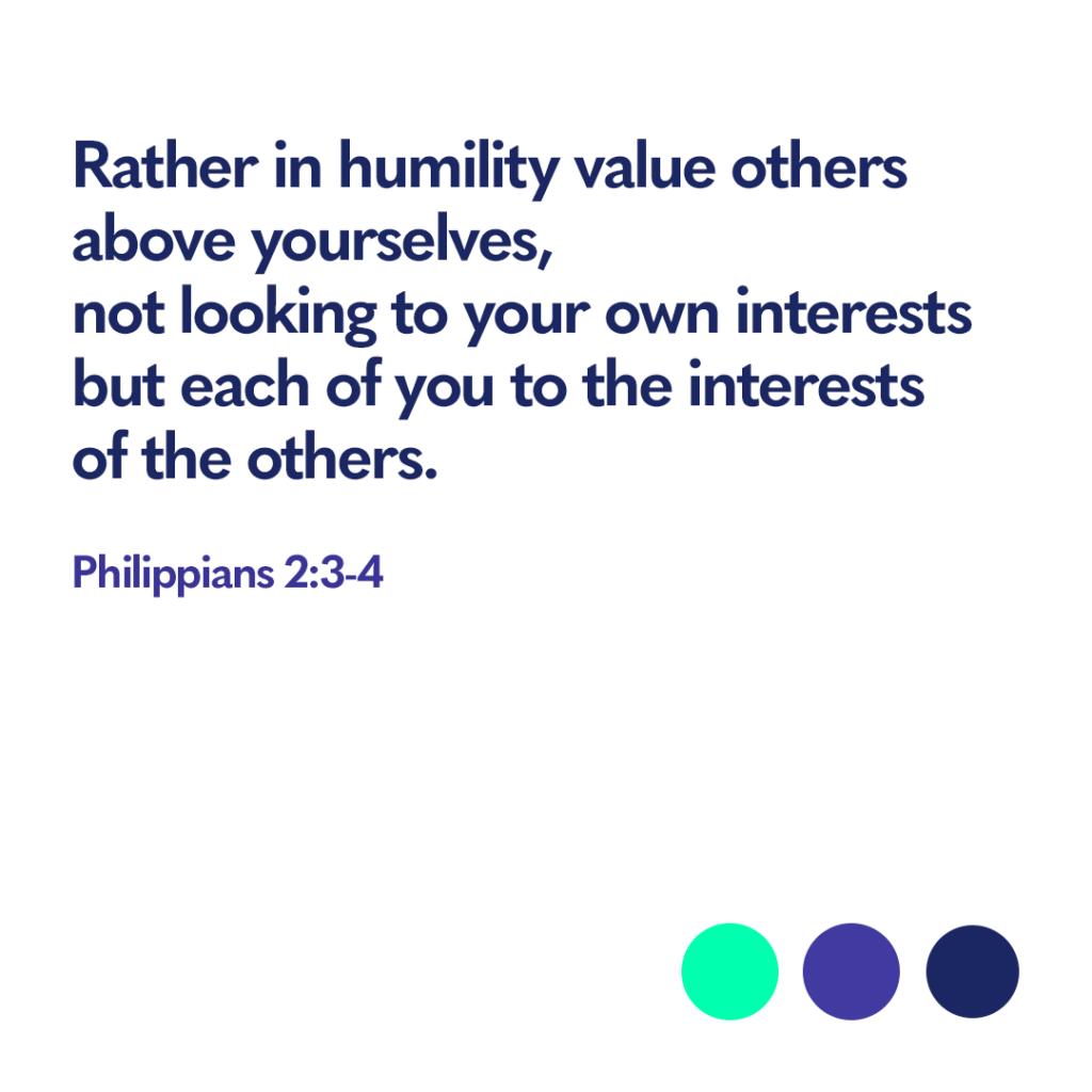 Bible verse Philippians 2:3-4