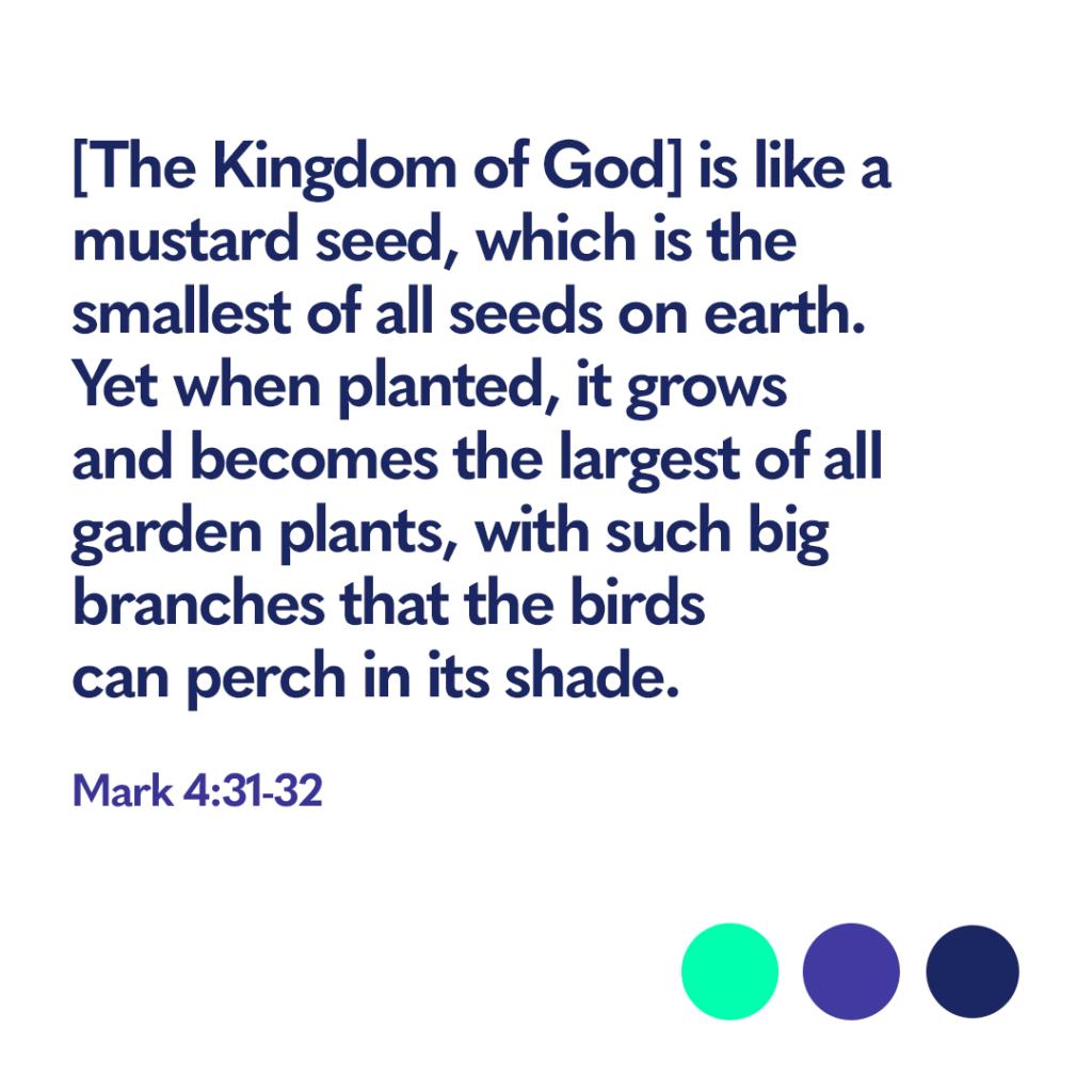 Bible verse Mark 4:31-32