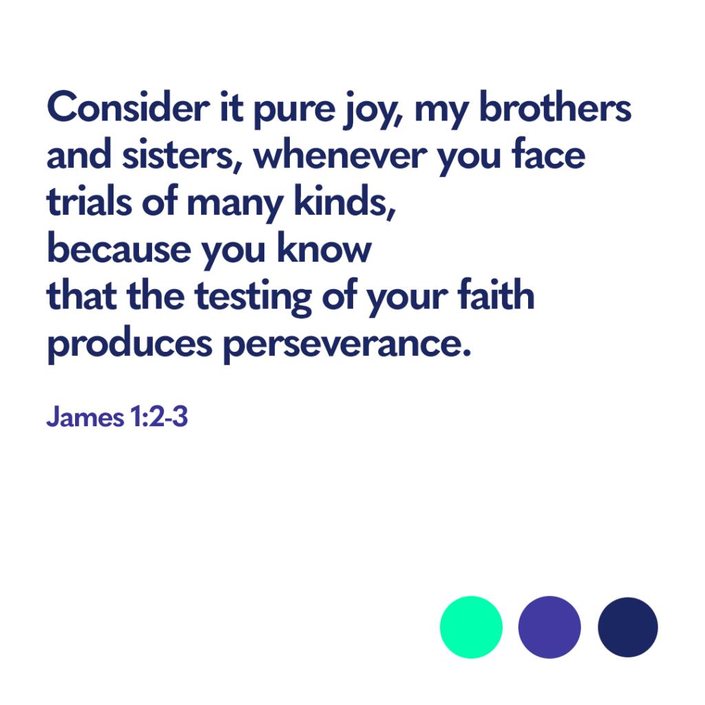 Bible verse James 1:2-3
