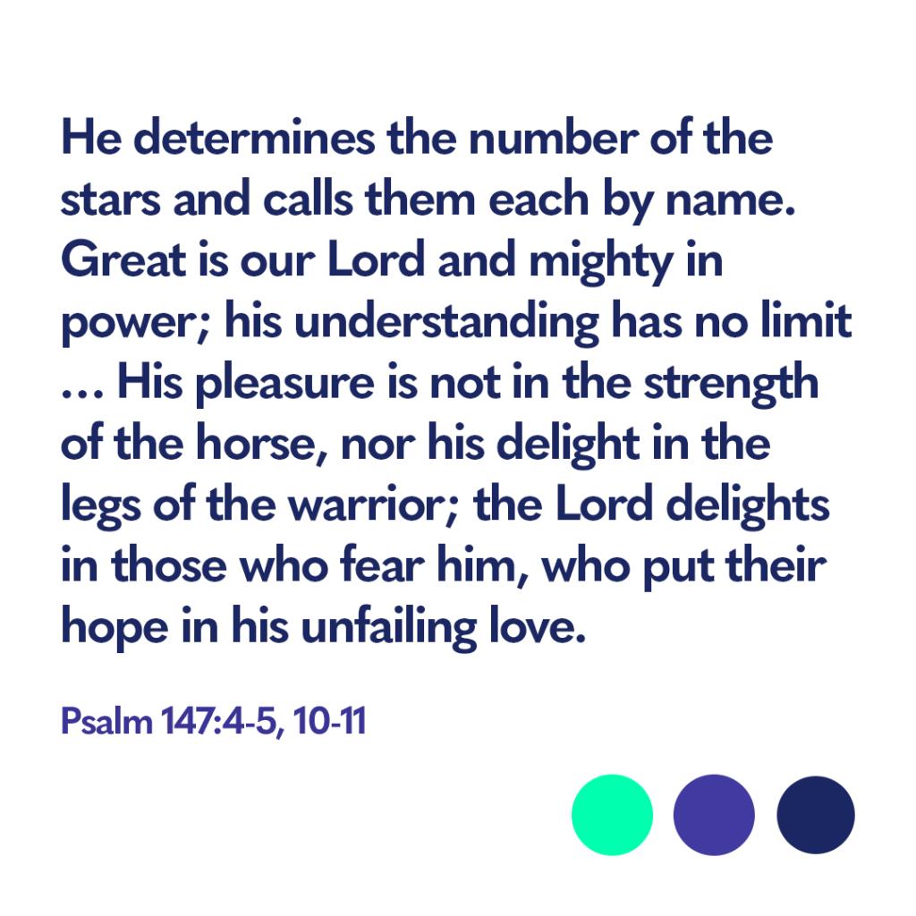 Bible verse Psalm 147