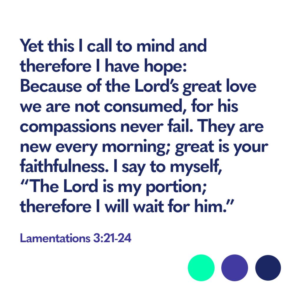 Bible verse Lamentations 3:21-24