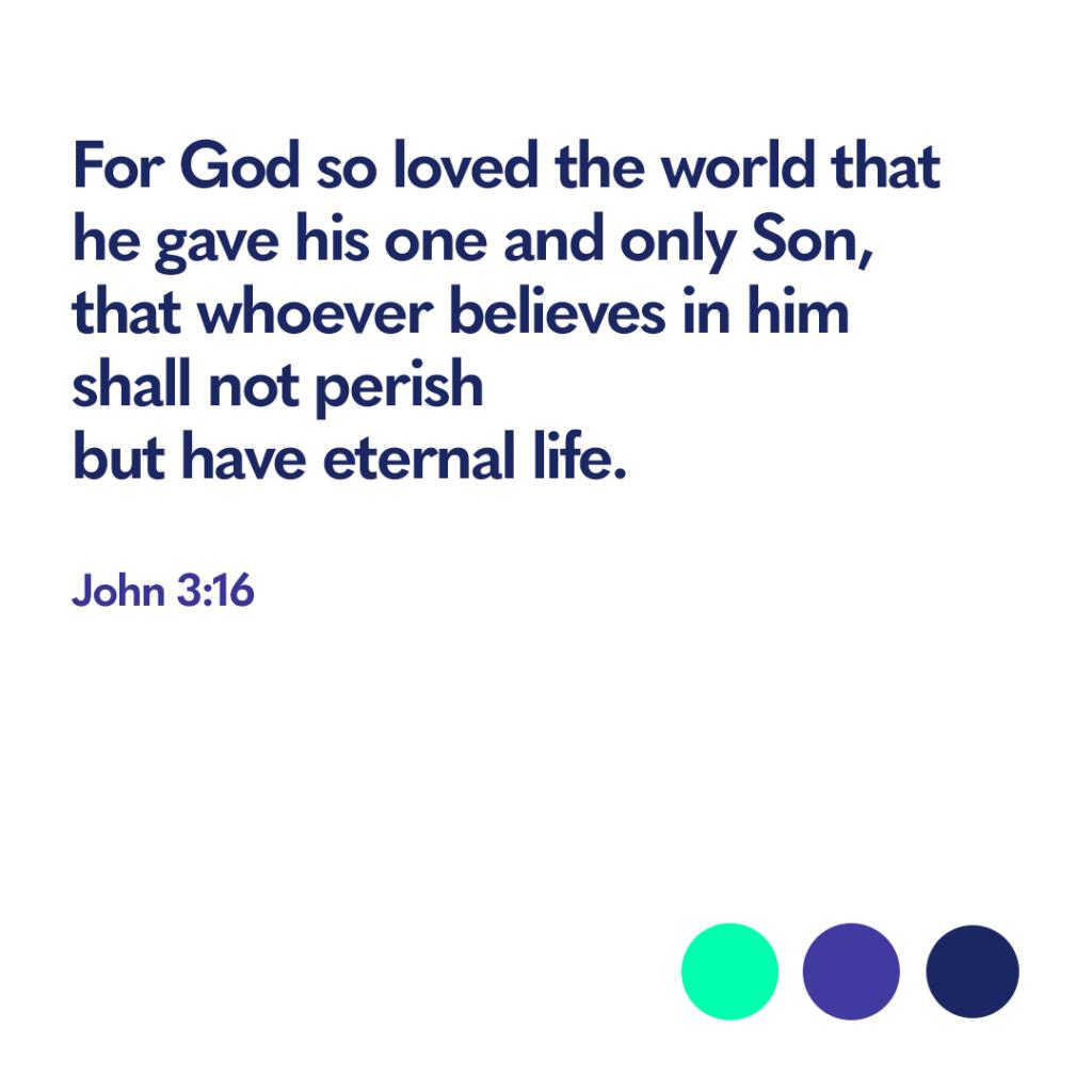 Bible verse John 3:16
