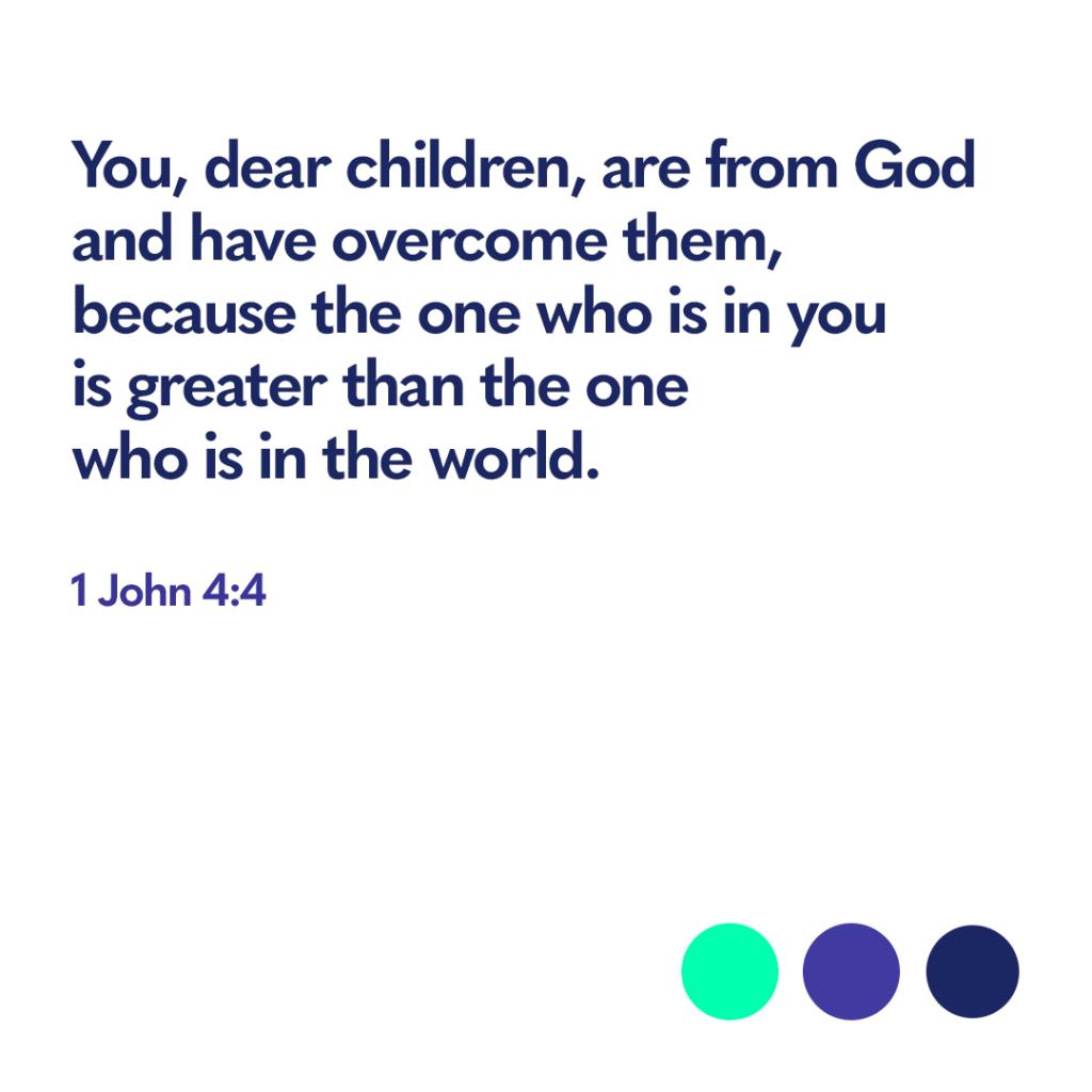 Bible verse 1 John 4:4