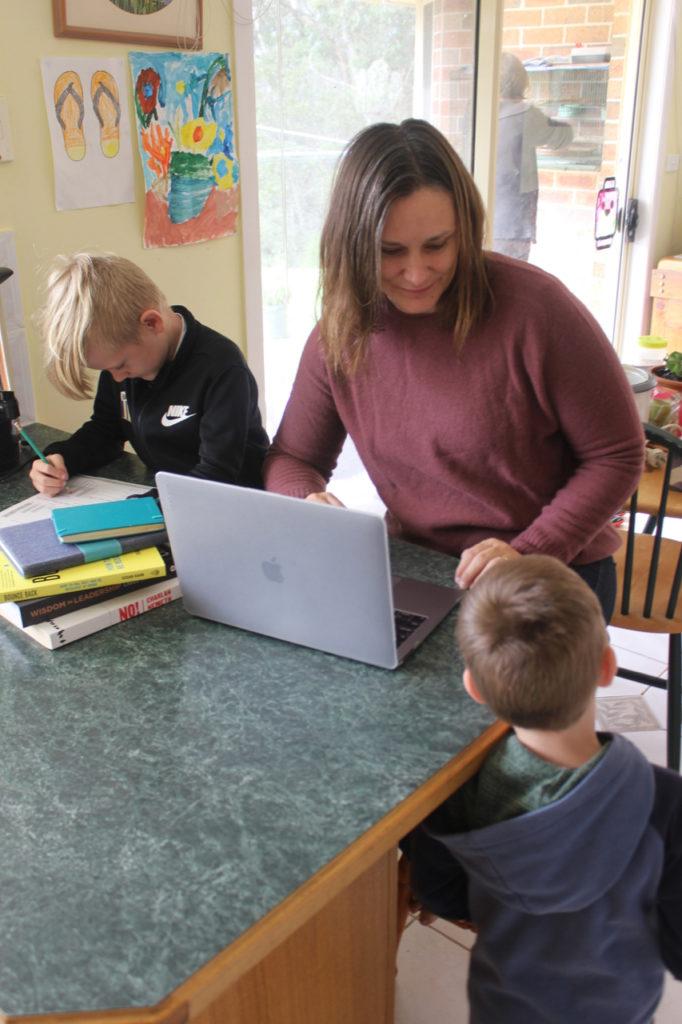 Rebecca Oakley and kids