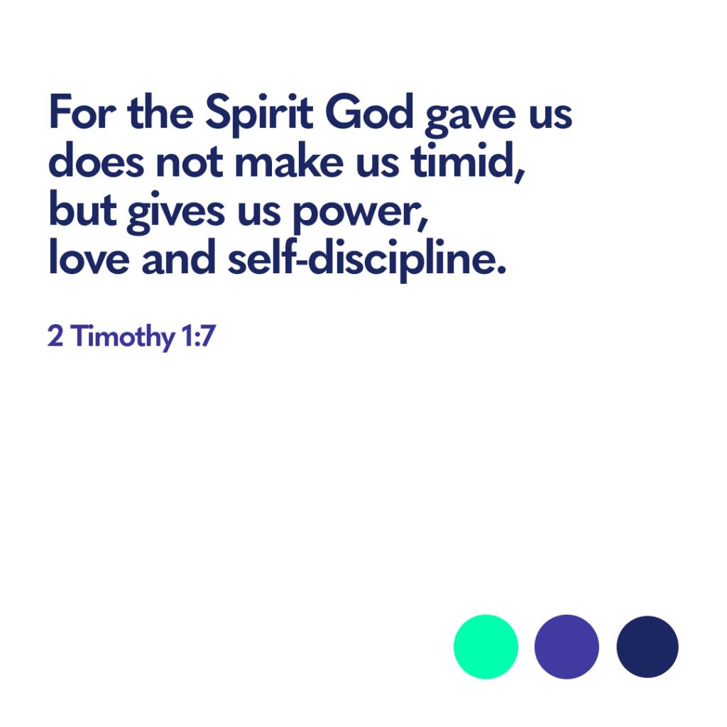 Bible Verse 2 Timothy 1:7