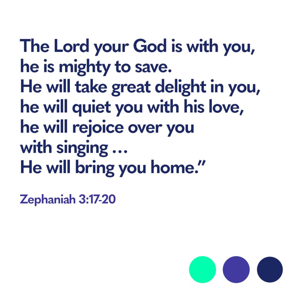 Bible verse Zephaniah 3:17-20