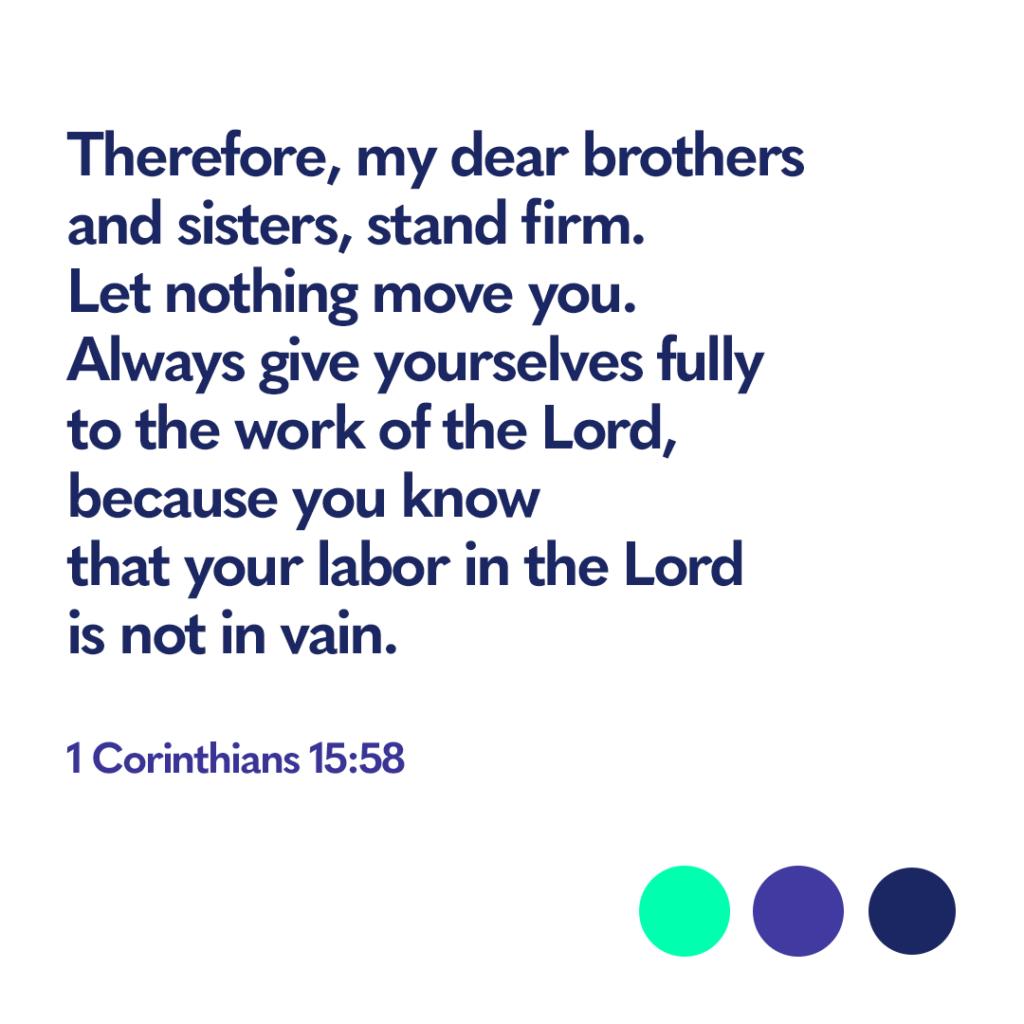Bible verse 1 Corinthians 15:58