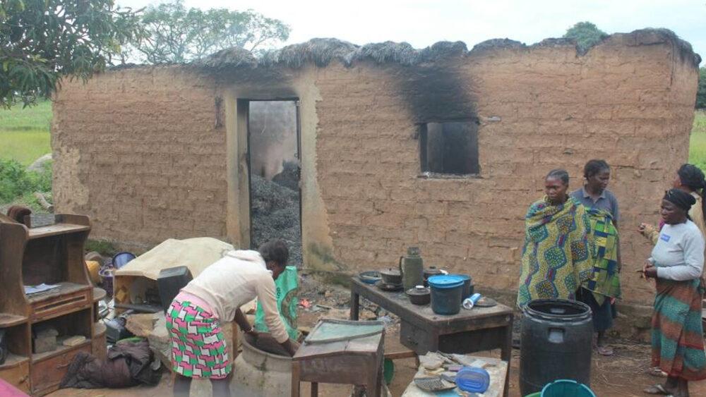 Women in the aftermath of violence, Agatu, Benue, Nigeria in February 2016
