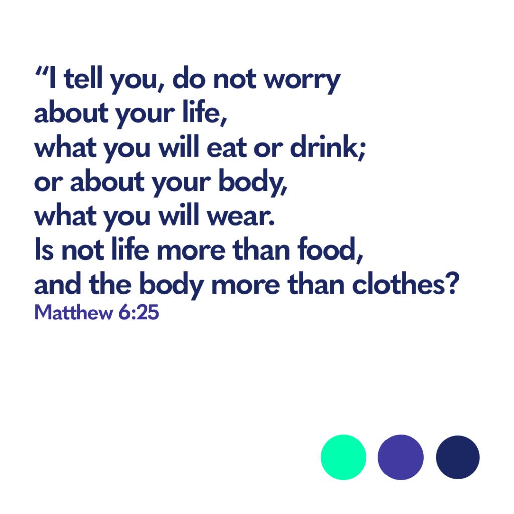 Matthew 6:25 Bible verse