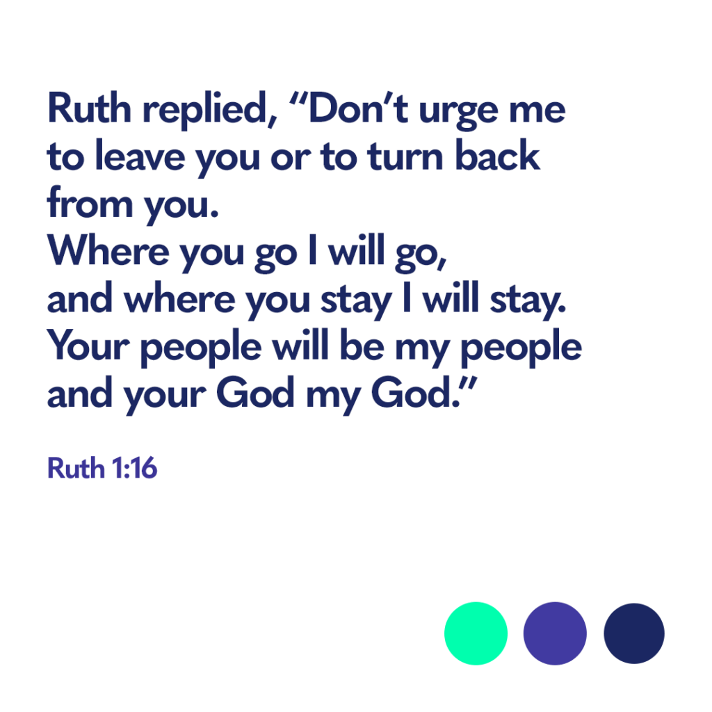 Bible Verse Ruth 1:16