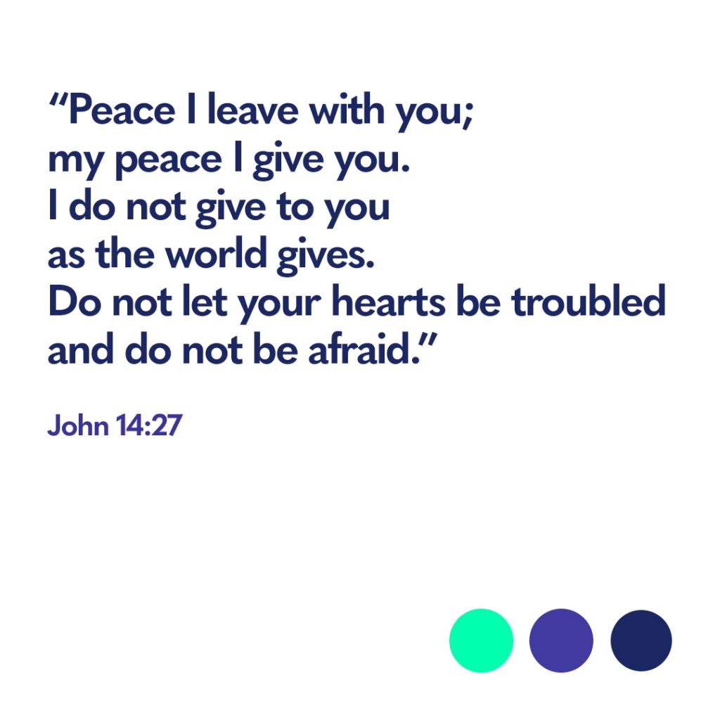 Bible verse John 14:27