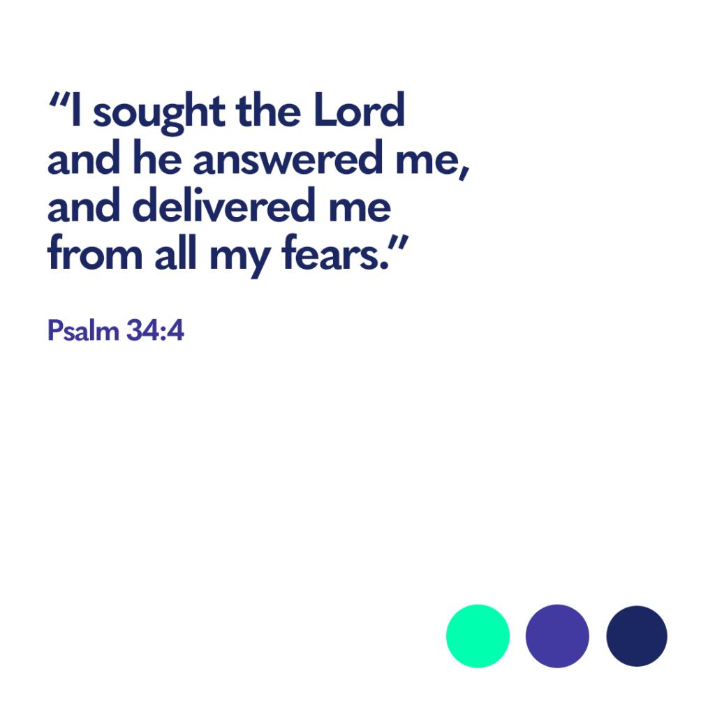 Bible verse Psalm 34:4