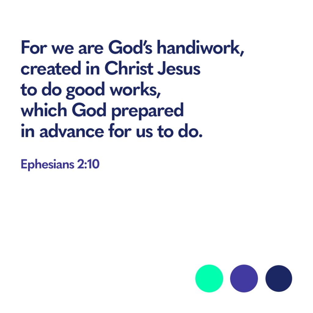 Bible verse Ephesians 2:10