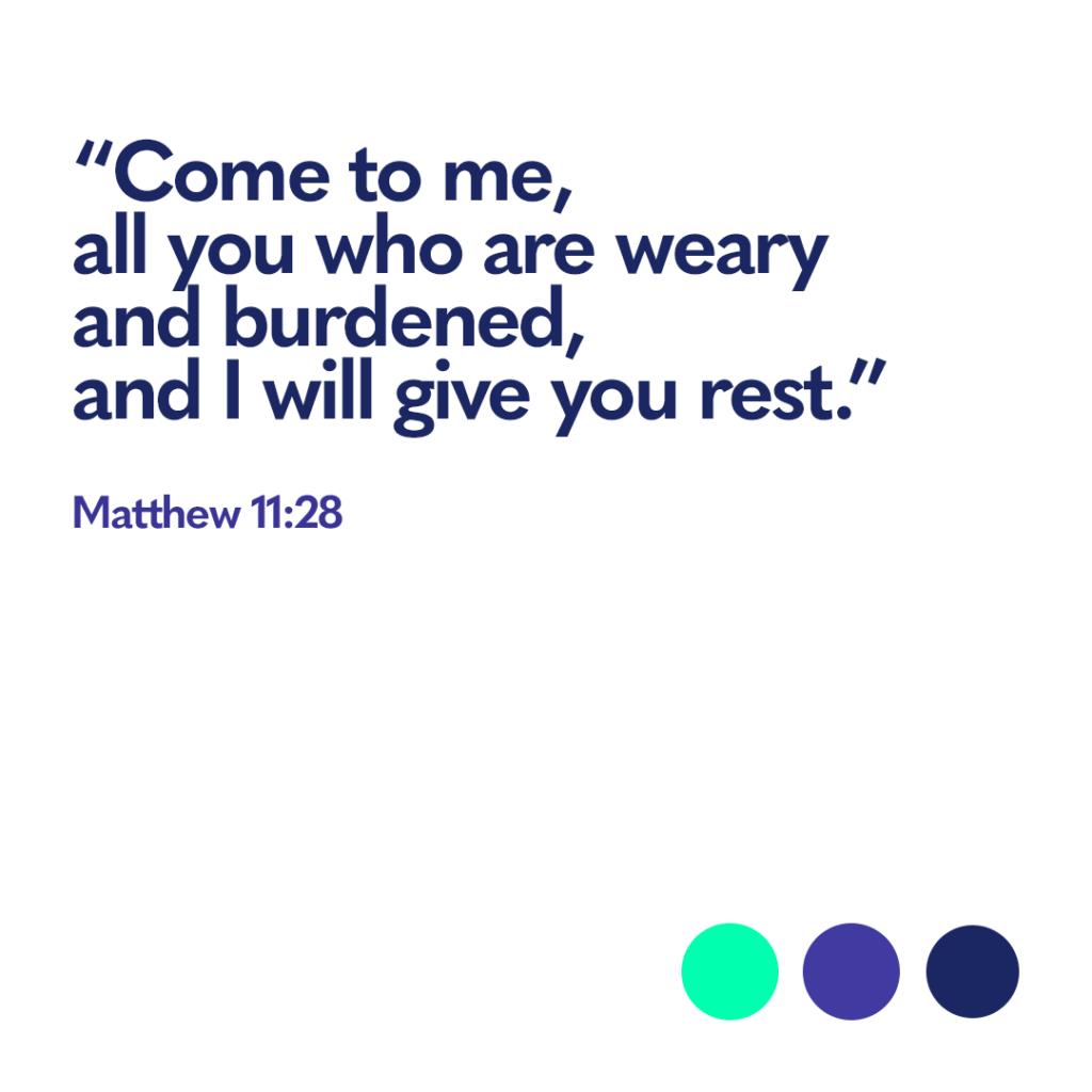 Bible verse Matthew 11:28